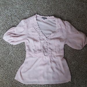 Apt 9 Medium Pink Blouse With Embroidery